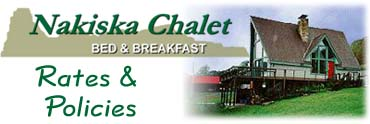 Nakiska Chalet Bed and Breakfast-Rates
